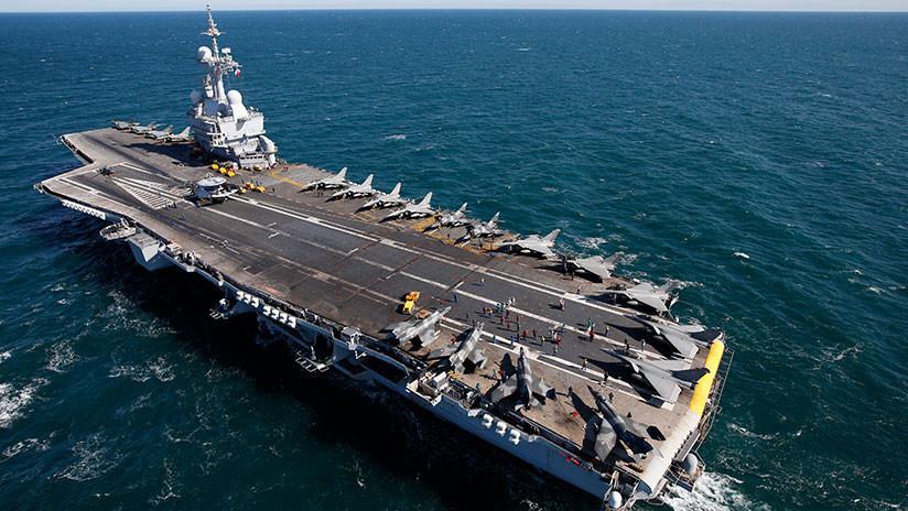 El único portaaviones de Francia zarpa en una nueva misión para luchar contra el Estado Islámico en Siria