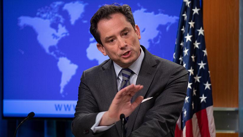 Portavoz del Departamento de Estado de EE.UU. riñe a la prensa por llamar a Guaidó 'autoproclamado'
