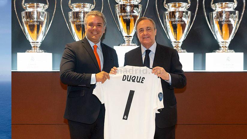 ¿Es Iván Duque el culpable de la mala racha del Real Madrid? Algunos internautas creen que sí por esta foto