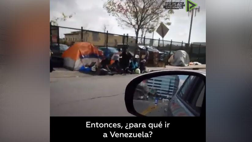 """""""¿Para qué ir a Venezuela?"""": Internauta muestra una desagradable realidad que se vive en Los Ángeles (VIDEO)"""