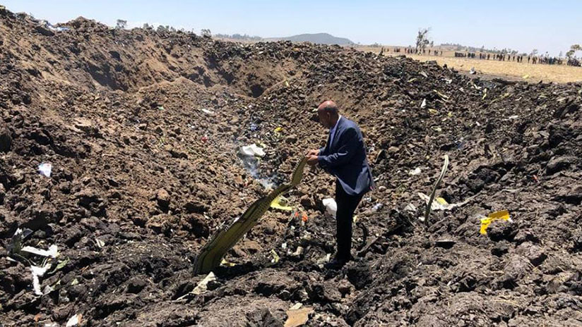 PRIMERAS IMÁGENES: El lugar del siniestro del Boeing 737 en Etiopía
