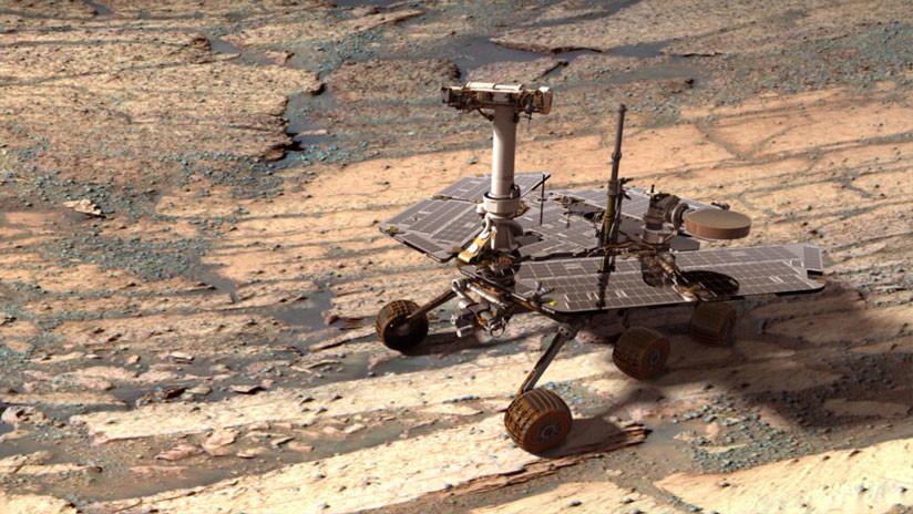 FOTO: La NASA divulga la última imagen de 360 grados captada por el 'rover' Opportunity en Marte