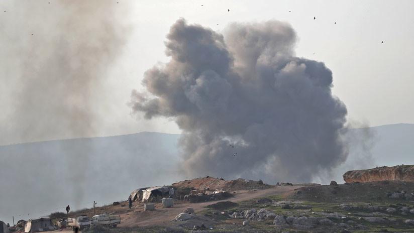 La aviación rusa ataca un almacén de armas del Frente Al Nusra para ser usadas contra la base de Jmeimim en Siria