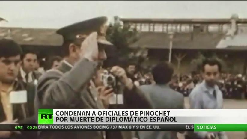 Condenan a oficiales del régimen de Pinochet por la muerte de un diplomático español