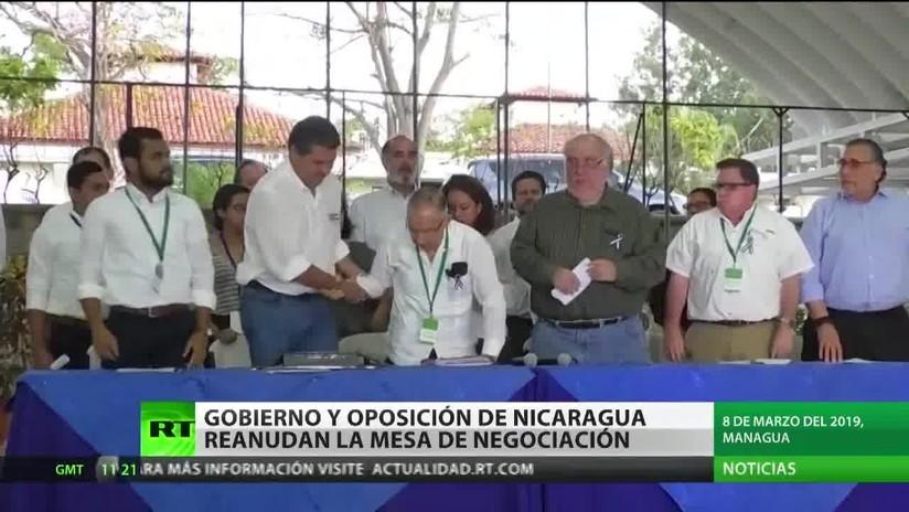 El Gobierno y la oposición en Nicaragua reanudan la mesa de negociación