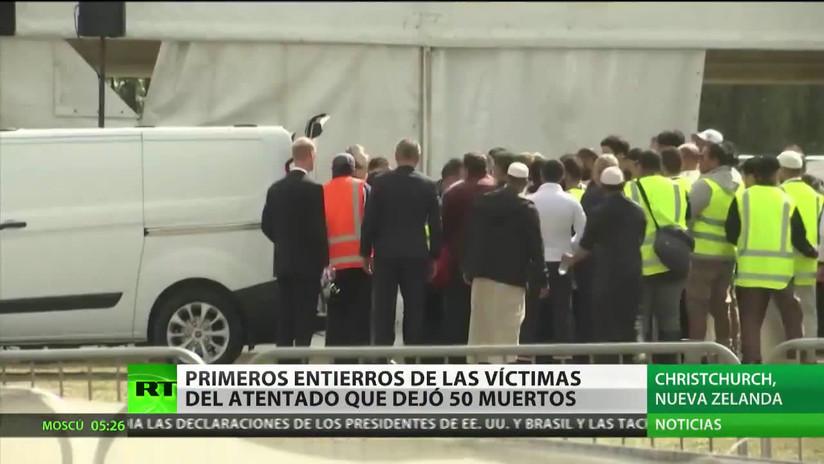 Primeros entierros de las víctimas del atentado en Nueva Zelanda