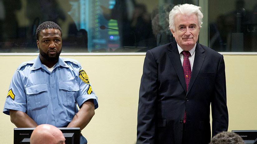 Condenan a cadena perpetua por genocidio al exdirigente serbobosnio Radovan Karadzic