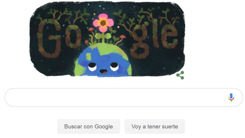 Equinoccio de primavera: Google celebra el cambio de estación con un 'doodle'