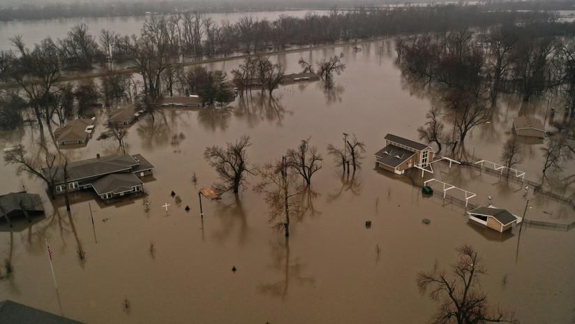 FOTOS: Las inundaciones récord en Nebraska vistas desde el espacio