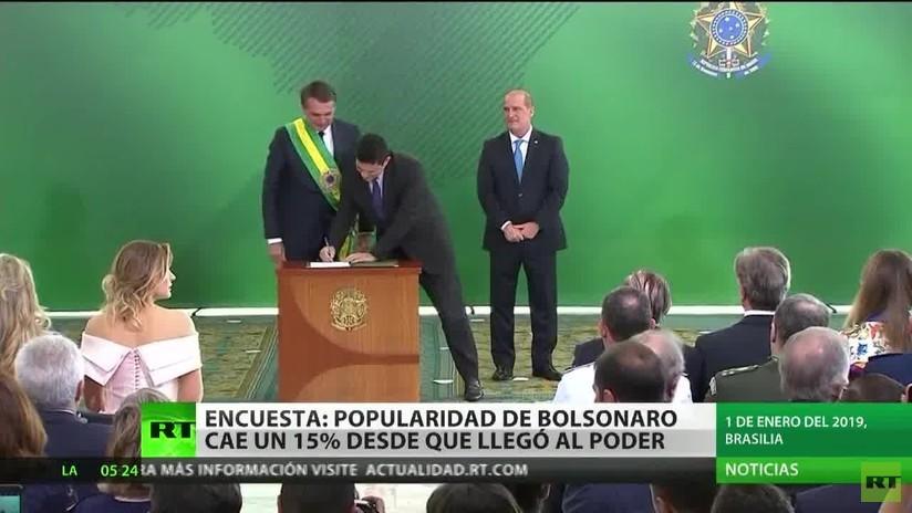 La popularidad de Bolsonaro cae un 15 % desde su llegada a la presidencia