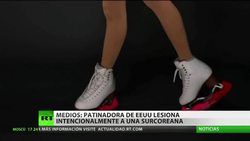 Acusan a una patinadora estadounidense de lesionar intencionalmente a su rival surcoreana