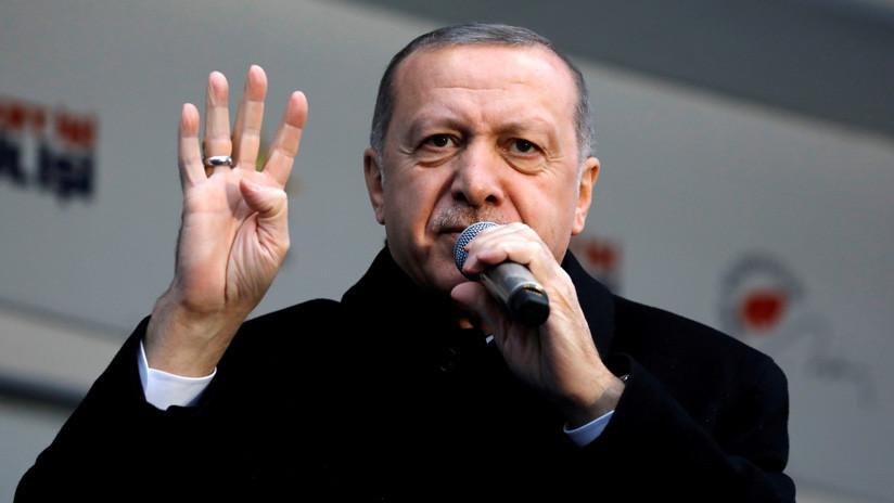 """Erdogan: """"Los dichos de Trump sobre los Altos del Golán colocaron a Oriente Medio al borde de una nueva crisis"""""""