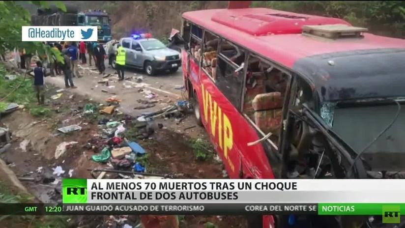 Al menos 70 fallecidos tras un choque frontal de dos autobuses en Ghana