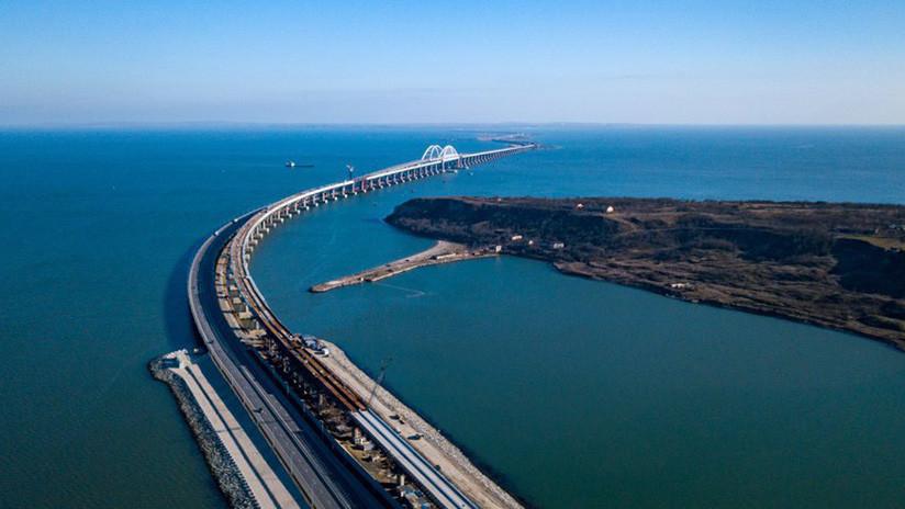 VIDEO: Completan todos los tramos de la parte ferroviaria del puente de Crimea