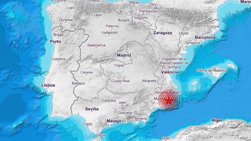 Se registra un sismo de magnitud 4,0 al sur de España