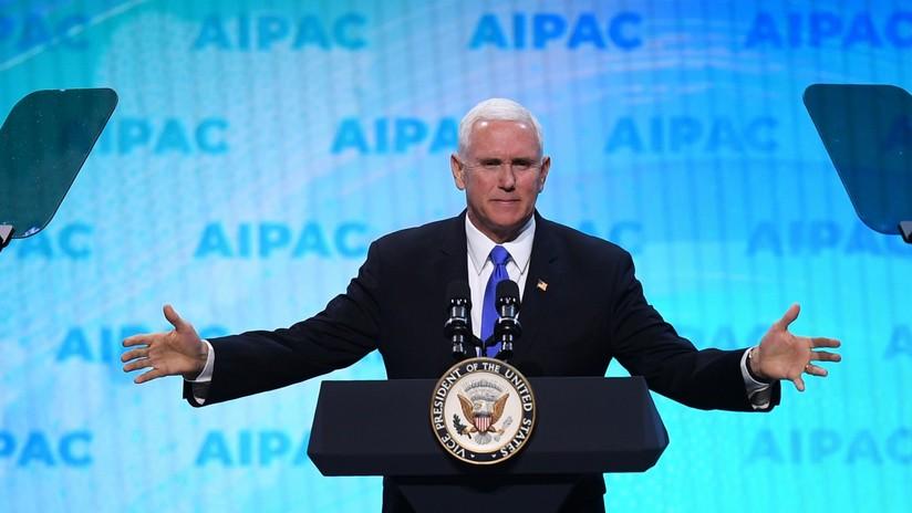 Pence anuncia que Trump reconocerá hoy la soberanía de Israel sobre los Altos de Golán en presencia de Netanyahu
