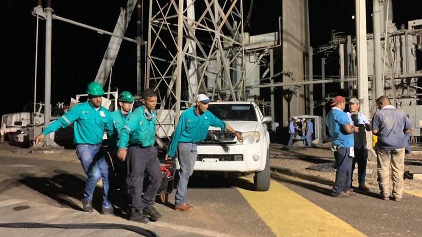 """FOTOS: La recuperación de la hidroeléctrica de Guri tras el """"criminal ataque"""" contra sistema eléctrico venezolano"""