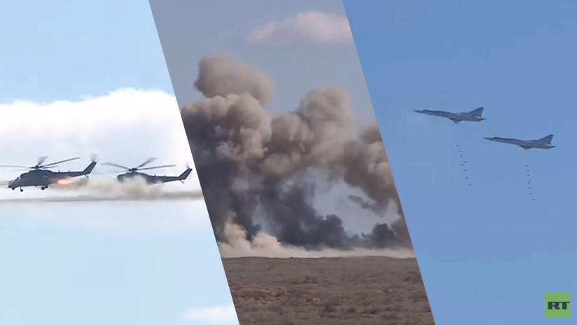 VIDEO: Aeronaves rusas y unidades antiaéreas de Bielorrusia simulan un combate