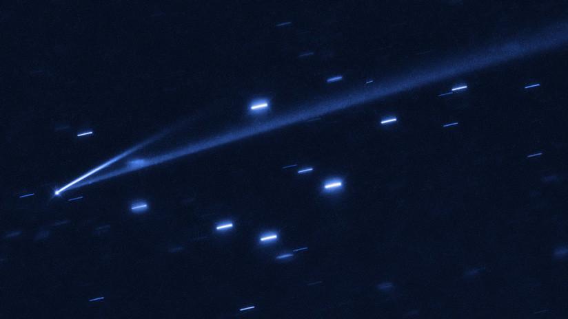 Captan un raro asteroide que se autodestruye tras convertirse sorpresivamente en un cometa de dos colas