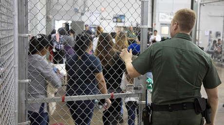 Centro de detención migratorio en el Valle del Río Grande, Texas, EE. UU., 17 de junio de 2018.