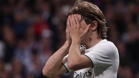 Luka Modric, jugador del Real Madrid, en el partido contra el Barcelona en el estadio Santiago Bernabéu, el 2 de marzo de 2018.