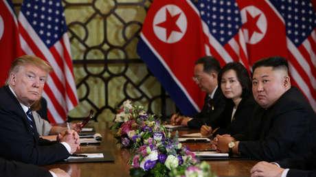Donald Trump y Kim Jong-un en Hanói, Vietnam, 28 de febrero de 2019