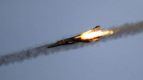 Un avión de la Fuerza Aérea India.