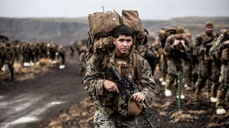 Soldados del ejército estadounidense durante un ejercicio militar.