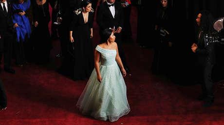 La actriz Yalitza Aparicio en la 91.ª edición de los premios Óscar, en Los Ángeles, California, el 24 de febrero de 2019.