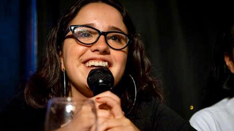 Ofelia Fernández en una charla-debate en la Ciudad de Buenos Aires, 26 de febrero de 2019