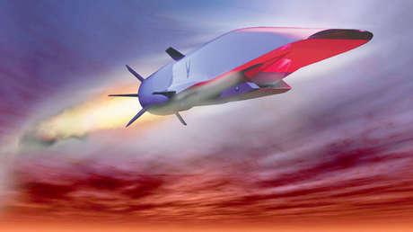 Un misil de crucero hipersónico X-51A Waverider.