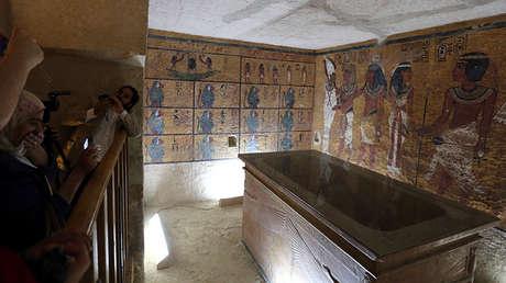 La inauguración de la réplica de la tumba de Tutankamón en Luxor (Egipto), el 30 de abril de 2014.