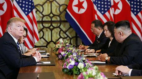 Donald Trump y Kim Jong-un en Hanói, Vietnam, 28 de febrero de 2019.