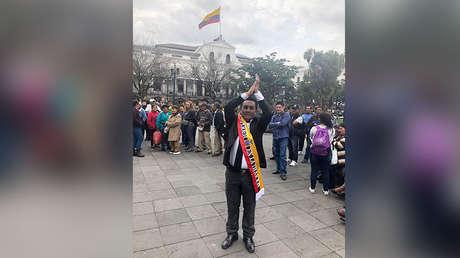 """Luis Monta, autoproclamado """"presidente interino"""" de Ecuador."""