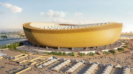 Simulación gráfica del estadio Lusail, que se está construyendo en Doha (Catar) y albergará la final del Mundial de fútbol 2022.