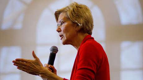 La senadora y candidata demócrata Elizabeth Warren durante un discurso en la Universidad Estatal de Plymouth, New Hampshire, EE.UU., el 23 de febrero de 2019.