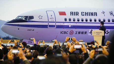 La primera entrega de un avión Boeing 737 Max 8 a Air China en Zhoushan, China, el 15 de diciembre de 2018.