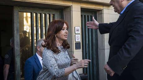 La senadora Cristina Fernández de Kirchner tras declarar ante el juzgado de Claudio Bonadío, el 25 de febrero del 2019.