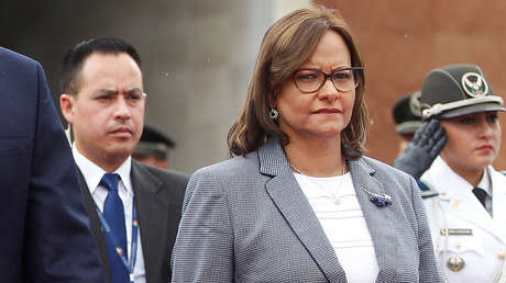 Elizabeth Cabezas, presidenta del Congreso ecuatoriano, 11 de diciembre de 2018.