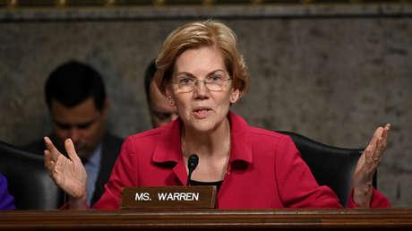 Elizabeth Warren en el Senado de EE.UU., Washington, 13 de febrero de 2019.