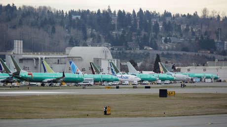 Aviones Boeing 737 MAX, Renton, Washington, EE.UU., 11 de marzo de 2019.