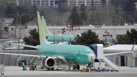Un avión 737 MAX en la planta de Boeing en Renton (EE.UU.), el 11 de marzo de 2019.