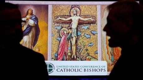 Participantes en la Conferencia de Obispos Católicos de EE.UU., Baltimore, EE.UU. 12 de noviembre de 2018,