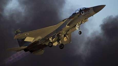 Un caza F-15  de la Fuerza Aérea de Israel en la base Hatzerim, Israel