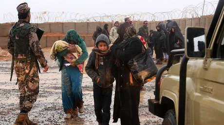 Refugiados sirios en el campo de Rukban, 1 de marzo de 2017.<br />