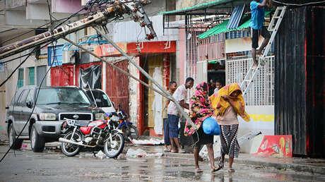 La ciudad de Beira, Mozambique, tras el paso del ciclón Idai, el 17 de marzo de 2019.