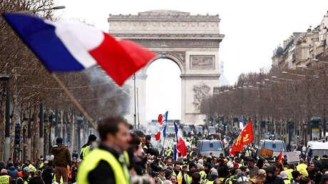 Protestas de 'chalecos amarillos' en París, Francia, el 2de marzo de 2019.