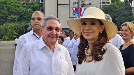 Cristina Kirchner y Raúl Castro en La Habana, Cuba, 20 de septiembre de 2015