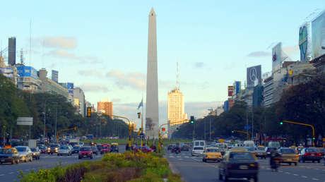Obelisco de la ciudad de Buenos Aires, Argentina.