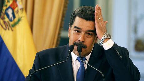 El presidente de Venezuela, Nicolás Maduro, en una conferencia de prensa en Caracas, Venezuela, el 8 de febrero de 2019.